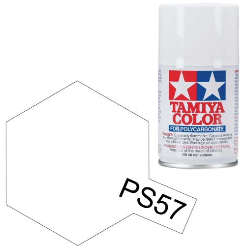 Tamiya Polycarbonate 86057 PS-57 Pearl White Spray Paint Aerosol 100ml