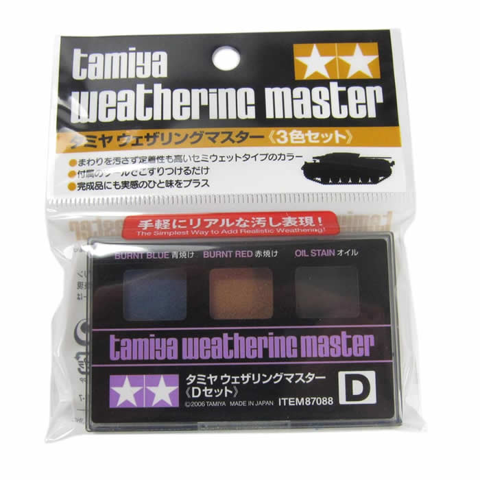 Tamiya 87088 Weathering Master Effect Set D - Burnt Blue Burnt Red Oil Stain
