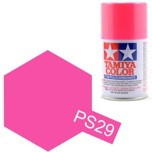 Tamiya Polycarbonate 86029 PS-29 Fluorescent Pink Spray Paint Aerosol 100ml