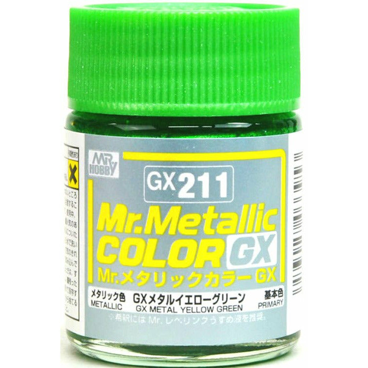 GSI Creos MR. Hobby Mr Metallic Color GX211 GX Metal Yellow Green 18mL Paint
