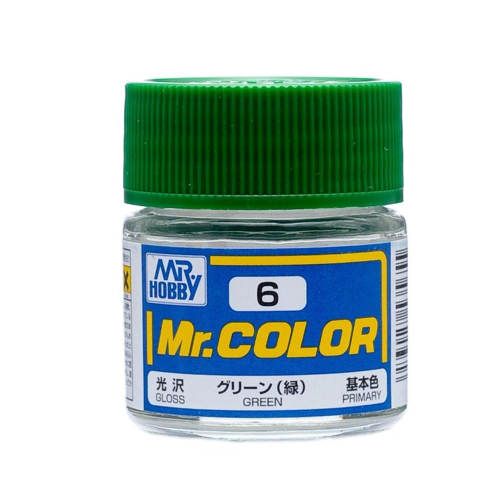 GSI Creos MR. Hobby Mr Color C6 Gloss Green 10mL Lacquer Model Paint