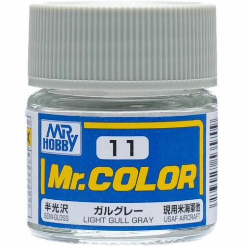 GSI Creos MR. Hobby Mr Color C11 Light Gull Gray 10mL Primary Semi-Gloss Paint