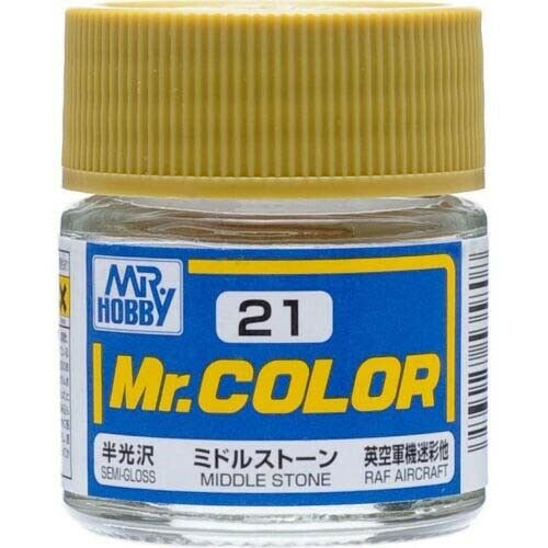 GSI Creos MR. Hobby Mr Color C21 Middle Stone 10mL Primary Semi-Gloss Paint