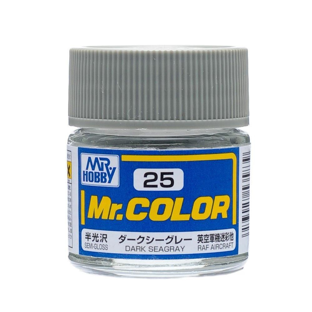 GSI Creos MR. Hobby Mr Color C25 Dark Sea Gray 10mL Semi-Gloss Lacquer Paint
