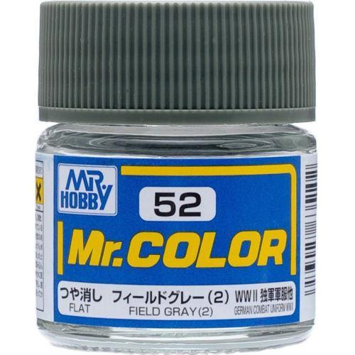 GSI Creos Mr. Hobby Mr Color C52 Flat Field Gray 2 10mL Paint