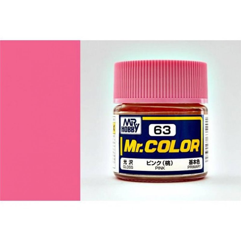 GSI Creos MR. Hobby Mr Color C63 Pink 10mL Gloss Hobby Paint Bucket