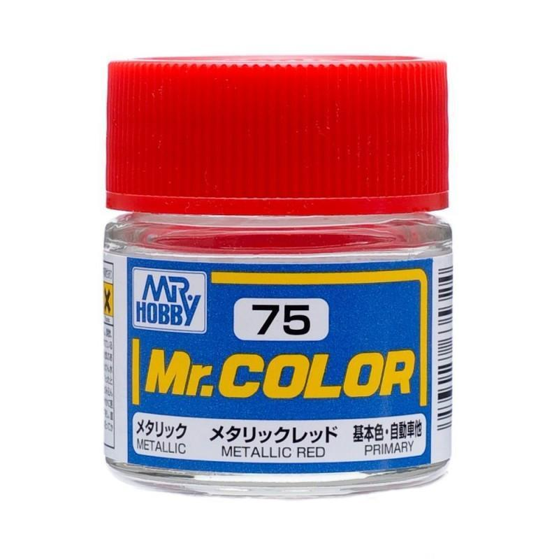 GSI Creos Mr. Hobby Mr Color C75 Metallic Red 10mL Paint