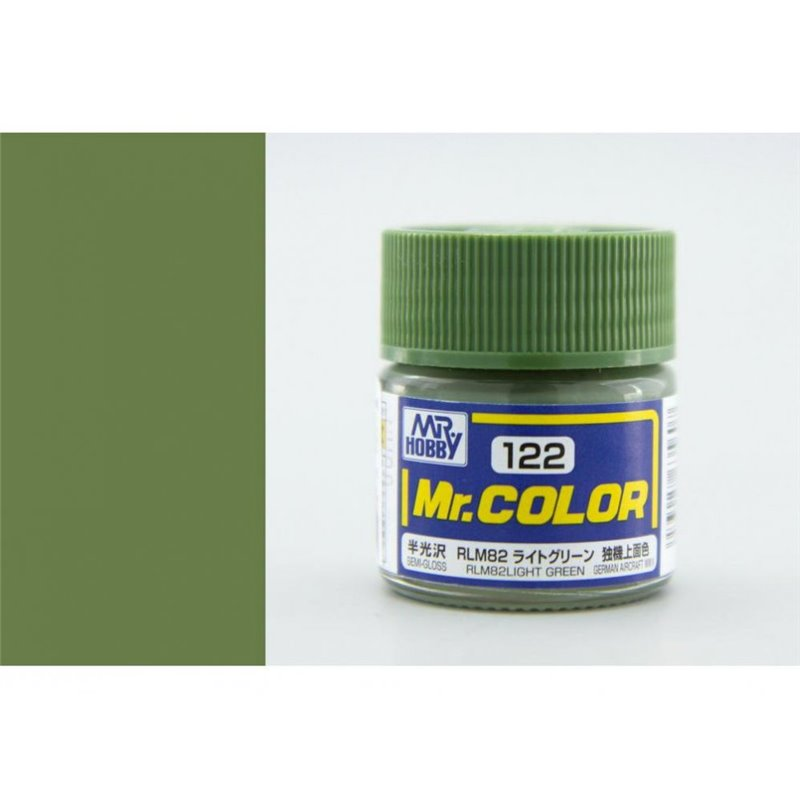 GSI Creos MR. Hobby Mr Color C122 RLM 82 Light Green German WWII 10mL Semi-Gloss