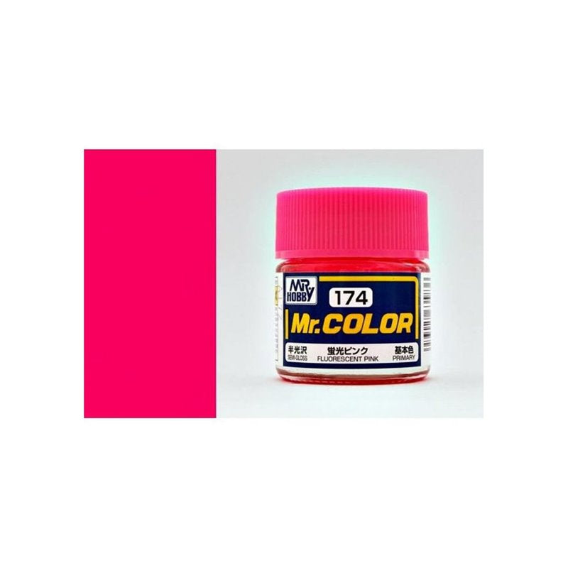 GSI Creos MR. Hobby Mr Color C174 Fluorescent Pink 10mL Semi-Gloss