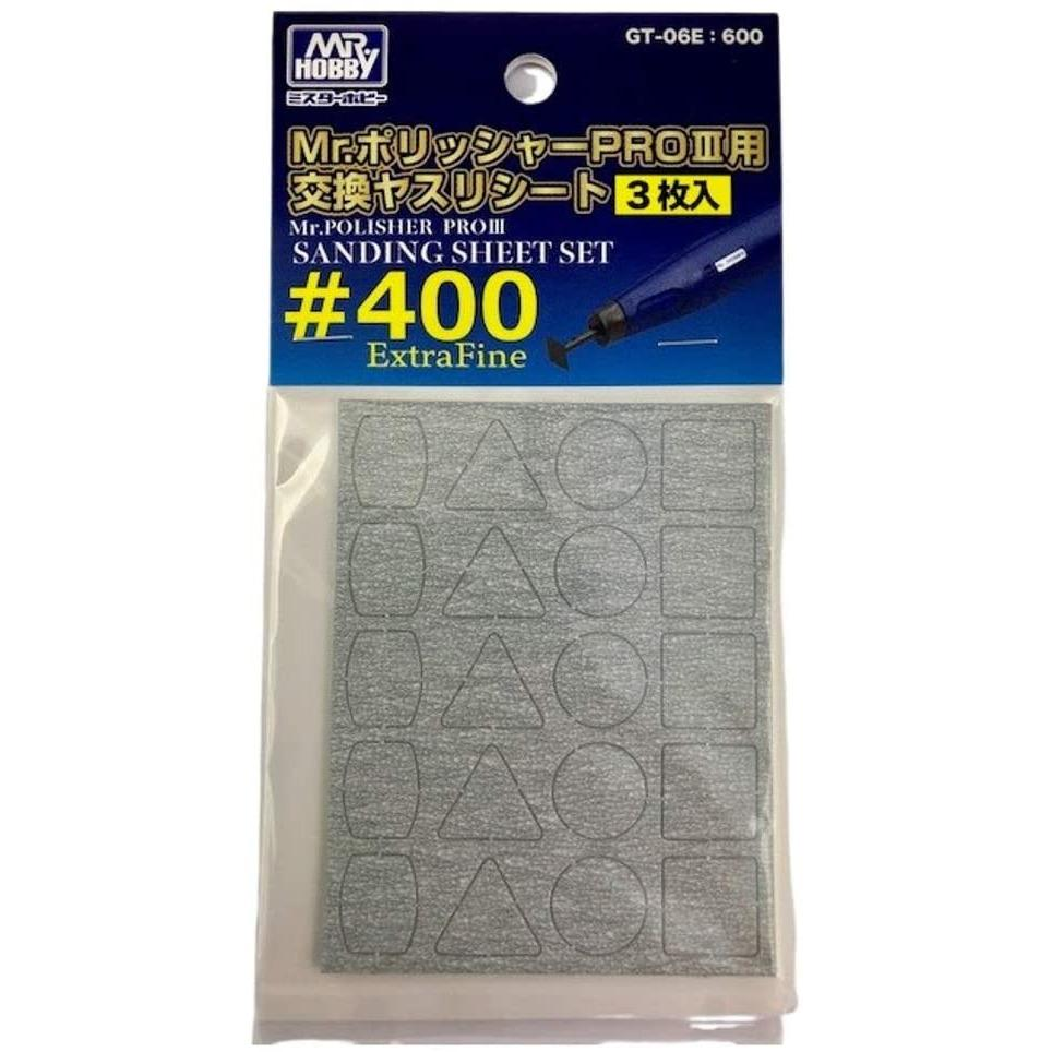 Mr. Hobby Mr. Polisher Pro 3 #400 Hobby Tool Sanding Sheet Set