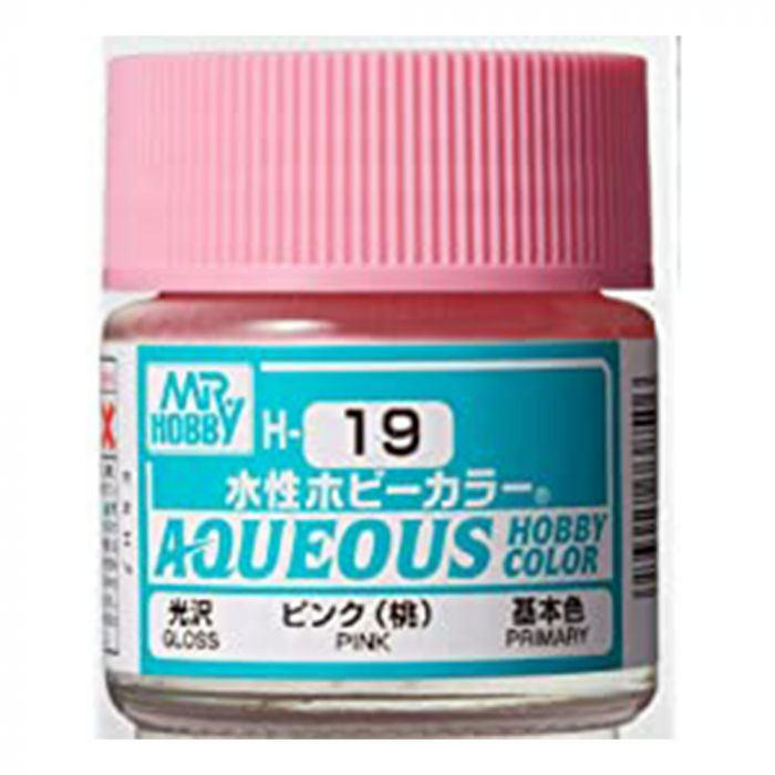 GSI Creos MR. Hobby Aqueous H19 Pink 10mL Gloss Paint