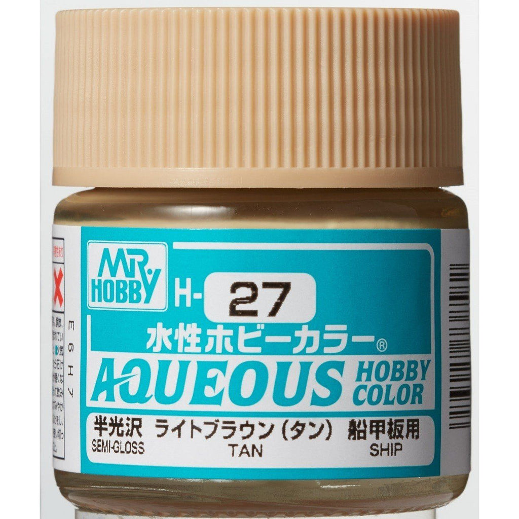 GSI Creos Mr. Hobby Mr Color Aqueous H27 Tan 10mL Semi-Gloss Paint