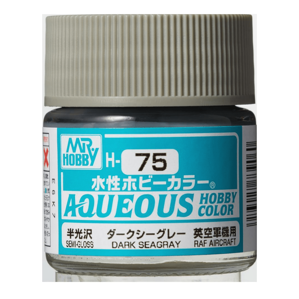 GSI Creos MR. Hobby Aqueous H75 Dark Sea-Gray Ship 10mL Semi-Gloss Paint