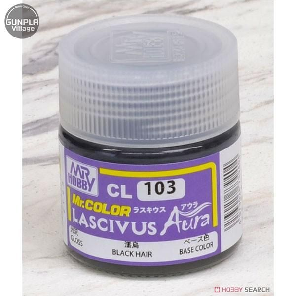GSI Creos MR. Hobby Mr Color Lascivus Aura CL103 Black Hair Base Color 10mL Gloss