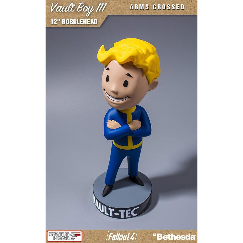 "Gaming Heads Fallout 4 Vault-Tec Vault Boy 111 12"" Arms Crossed Bobblehead"