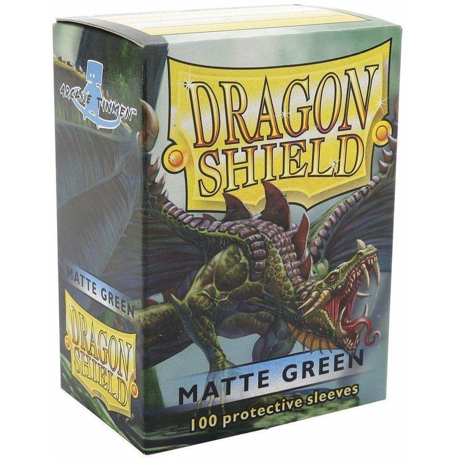 Dragon Shield Matte Green 100 Protective Sleeves