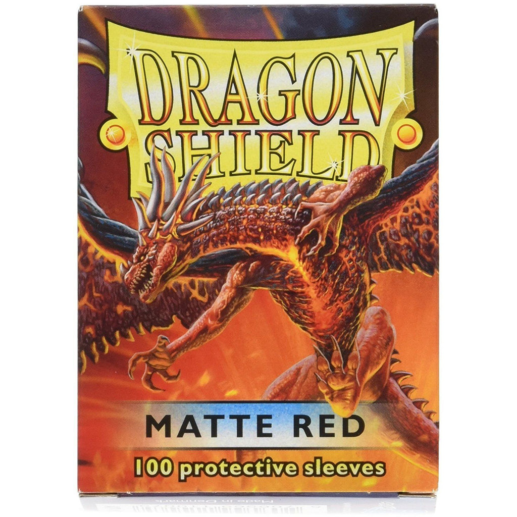 Dragon Shield Matte Red 100 Protective Sleeves