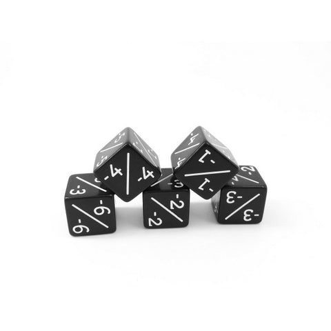 5x Negative Dice Counters Black -1/-1 for Magic: The Gathering / CCG MTG