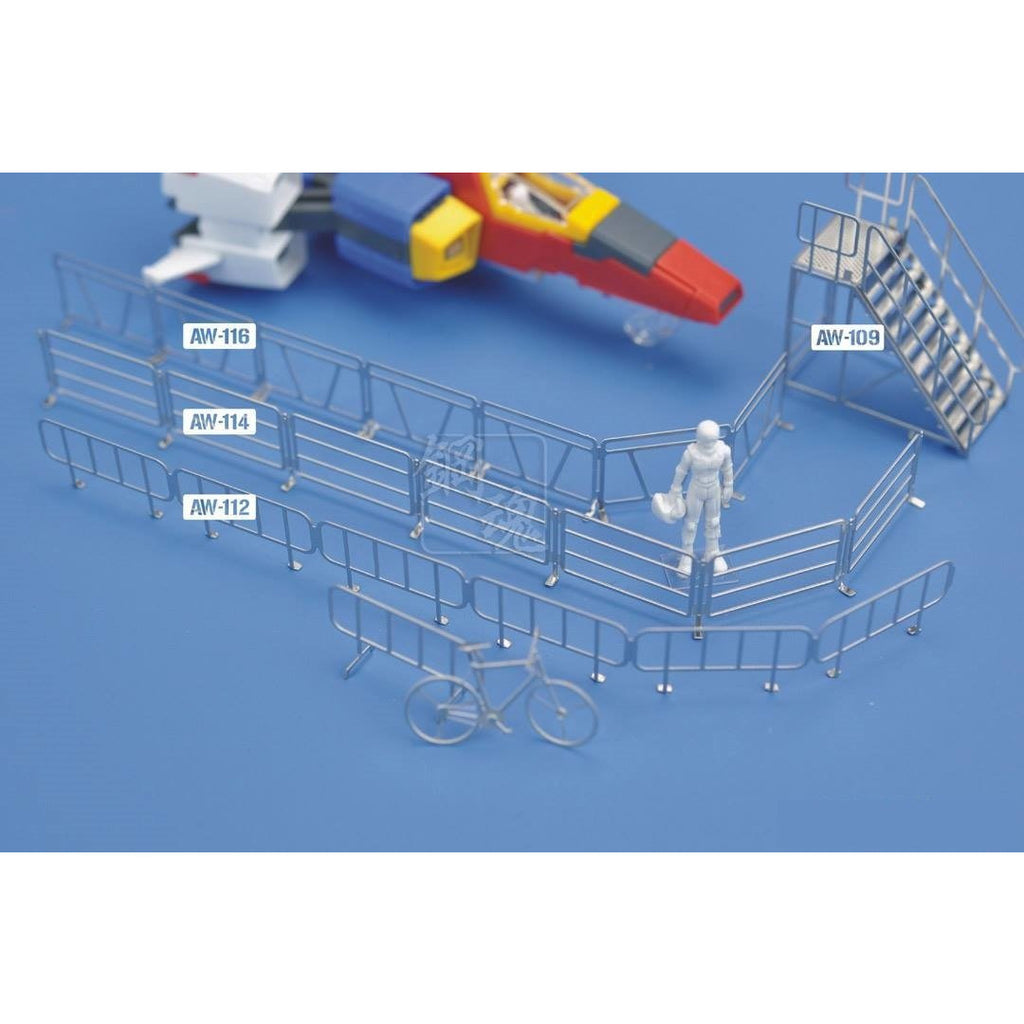 Steel Spirit AW-116 Model Detail Up Metal Parts Photo-Etch PE Handrails Fence C 1/100 Scale
