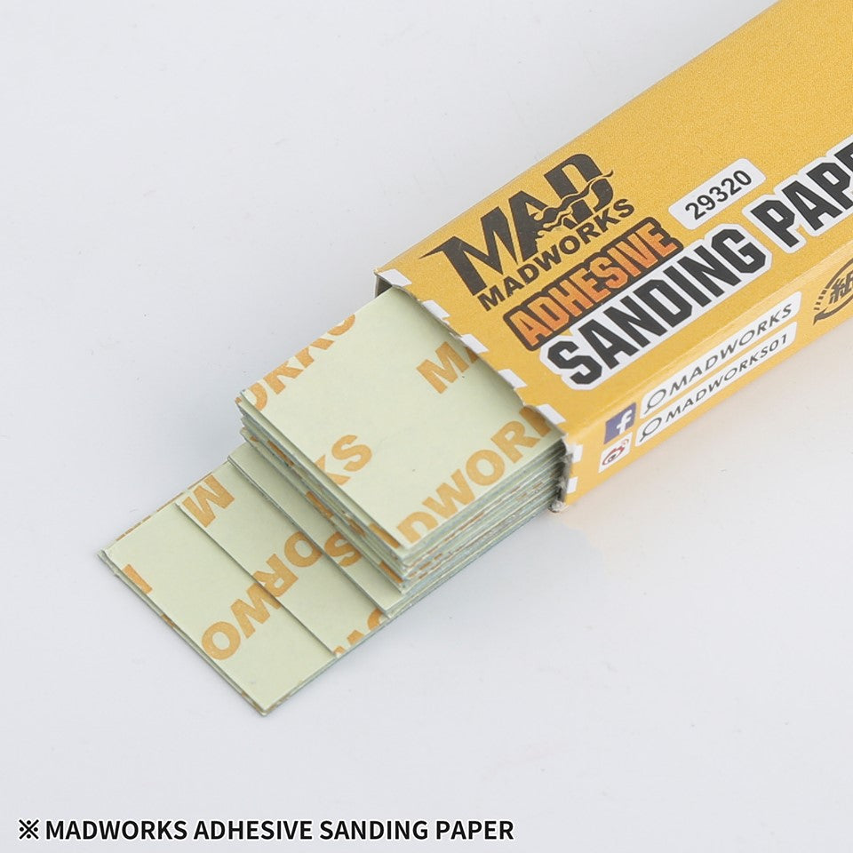 Madworks 29320 Self Adhesive Sandpaper #320 320 Grit 2cm x 9cm 20pc
