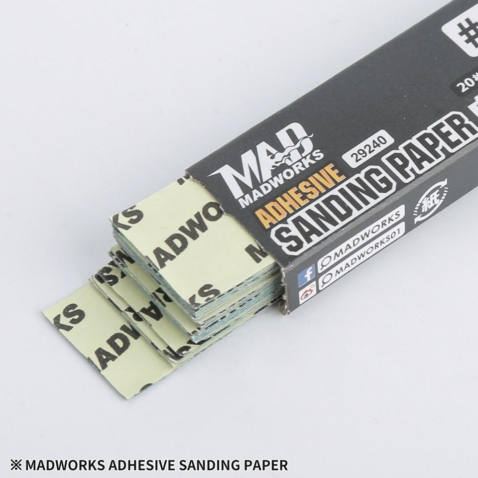 Madworks 29240 Self Adhesive Sandpaper #240 240 Grit 2cm x 9cm 20pc
