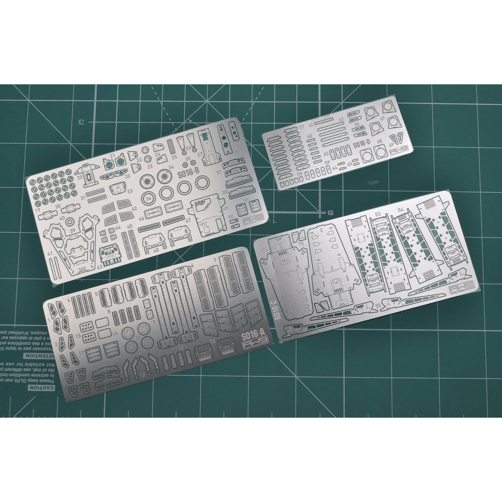 Madworks AW9 S16 Detail Up Metal Parts Photo-Etch Upgrade for Fazz Ver. Ka MG 1/100 Model Kit