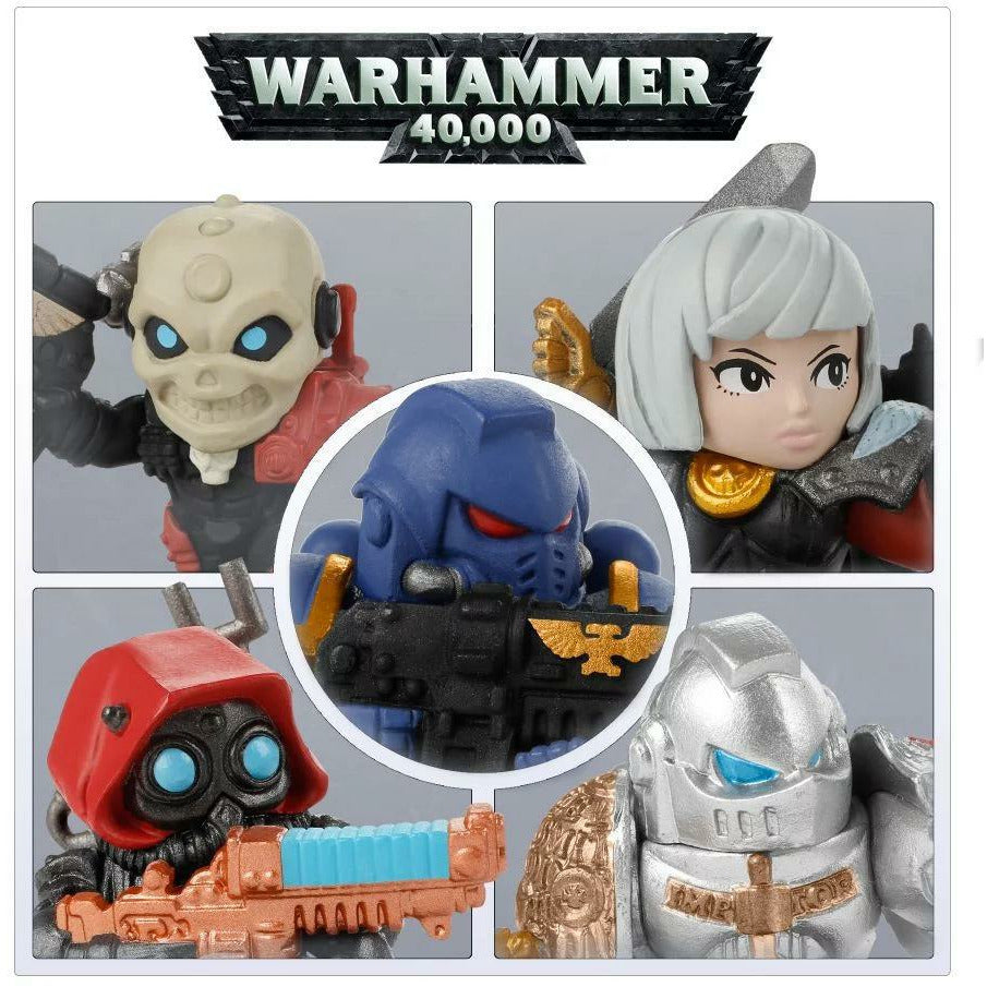 Bandai Warhammer 40,000 40k Chibi Series 1 Complete Full Set of 5 Figure