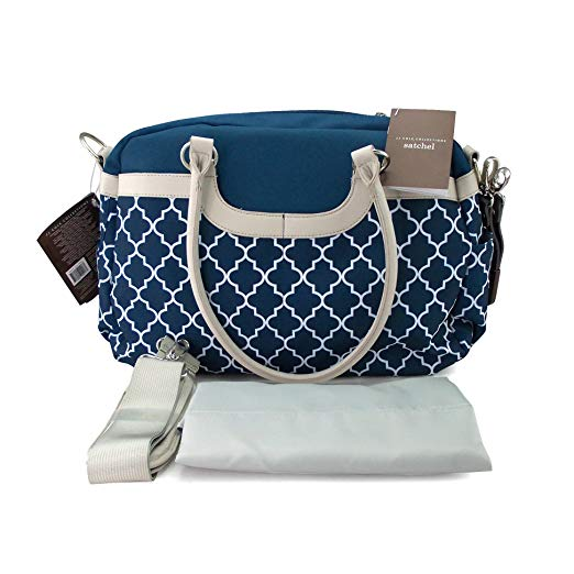 JJ Cole Infant Baby Satchel Diaper Bag Navy Arbor