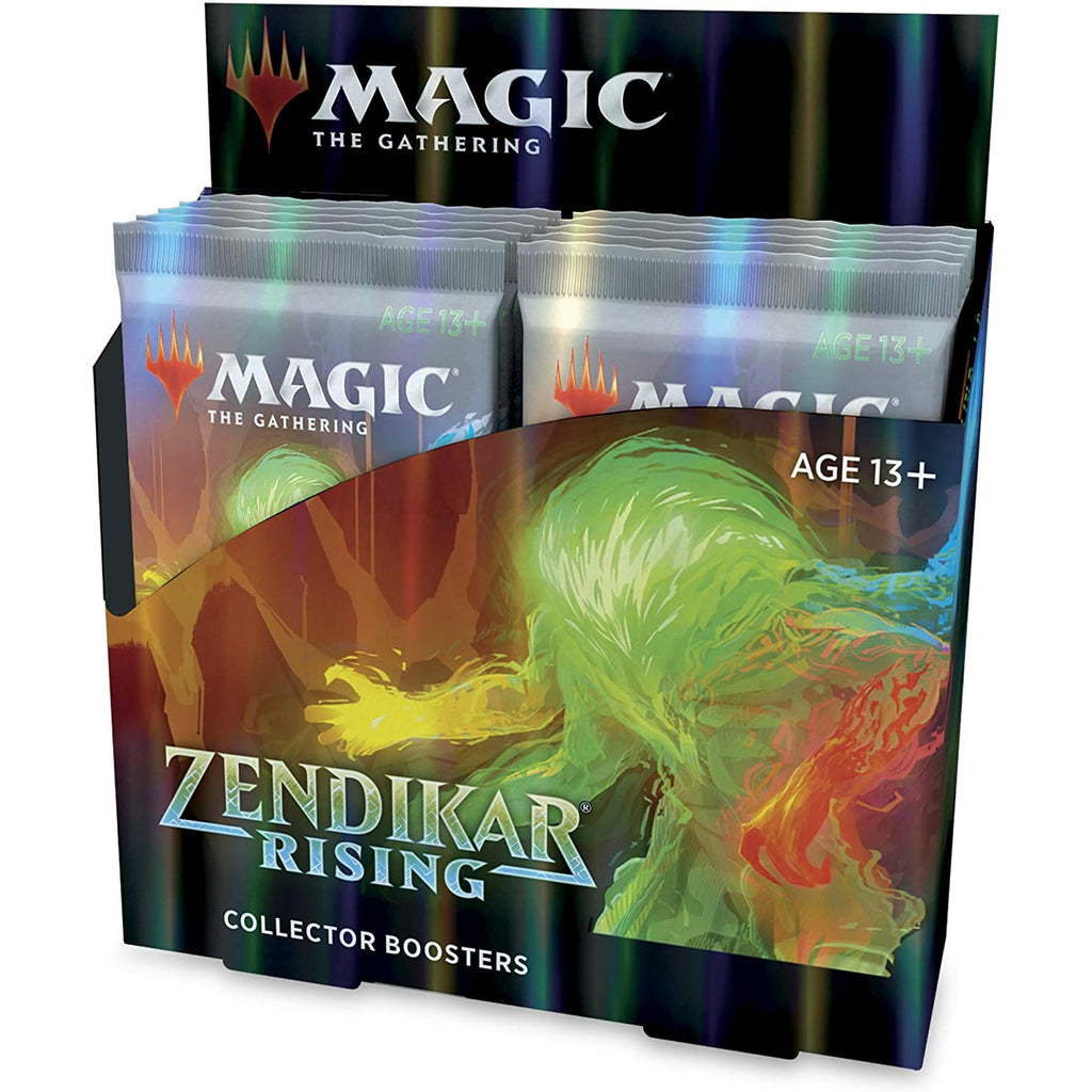 Magic: The Gathering Zendikar Rising Collector Booster Box | 12 Packs (180 Cards) + 2 Box Toppers | 132+ Foils | 48 Rares | 72 Alternate Frame Cards