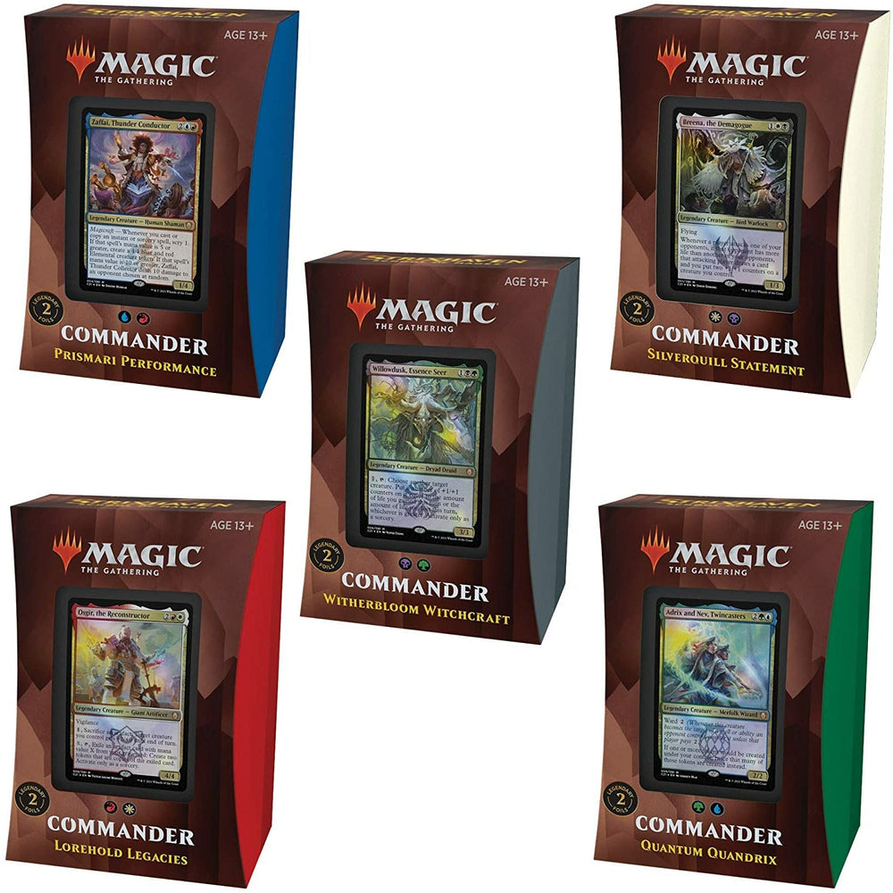 (PRE-ORDER: Apr 23) Magic The Gathering Strixhaven Commander Deck Bundle (All 5 Decks)