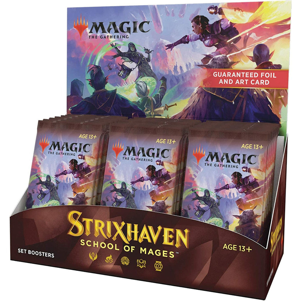 (PRE-ORDER: Apr 23) Magic The Gathering Strixhaven Set Booster Box | 30 Packs (360 Magic Cards)