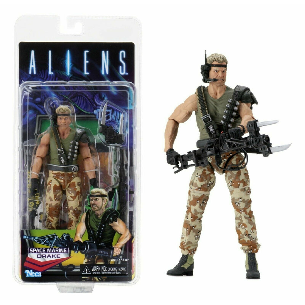 "NECA Aliens Kenner Tribute Space Marine Drake 7"" Scale Action Figure"