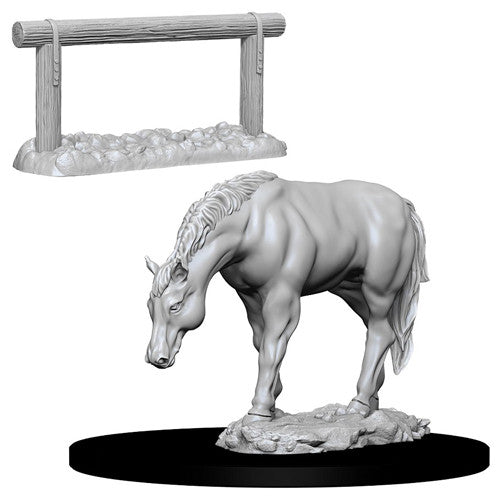 Wizkids: Deep Cuts Unpainted Miniatures: Horse & Hitch