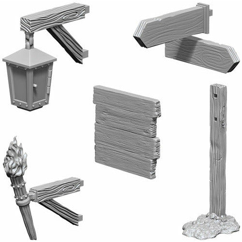 Wizkids: Deep Cuts Unpainted Miniatures: Signs & Lights