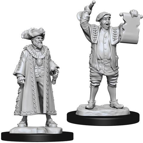 Wizkids: Deep Cuts Unpainted Miniatures: Mayor and Town Crier