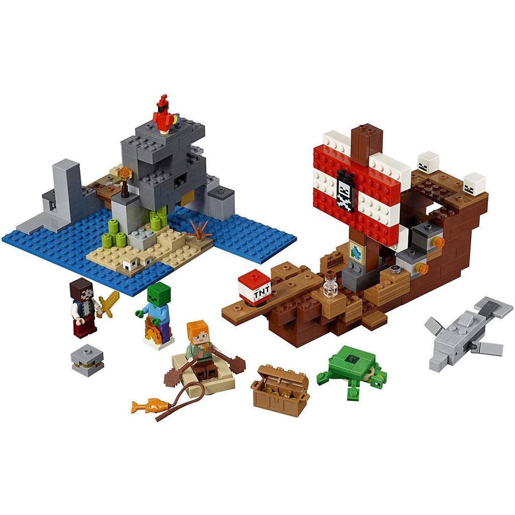 LEGO Minecraft 21152 The Pirate Ship Adventure Building Set (386 pcs)