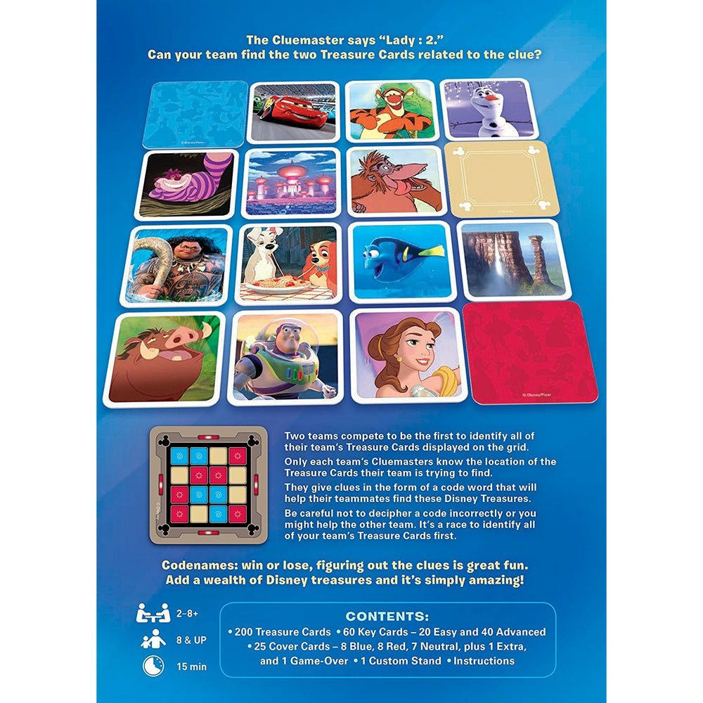 USAopoly Disney Family Edition Codenames Card Game