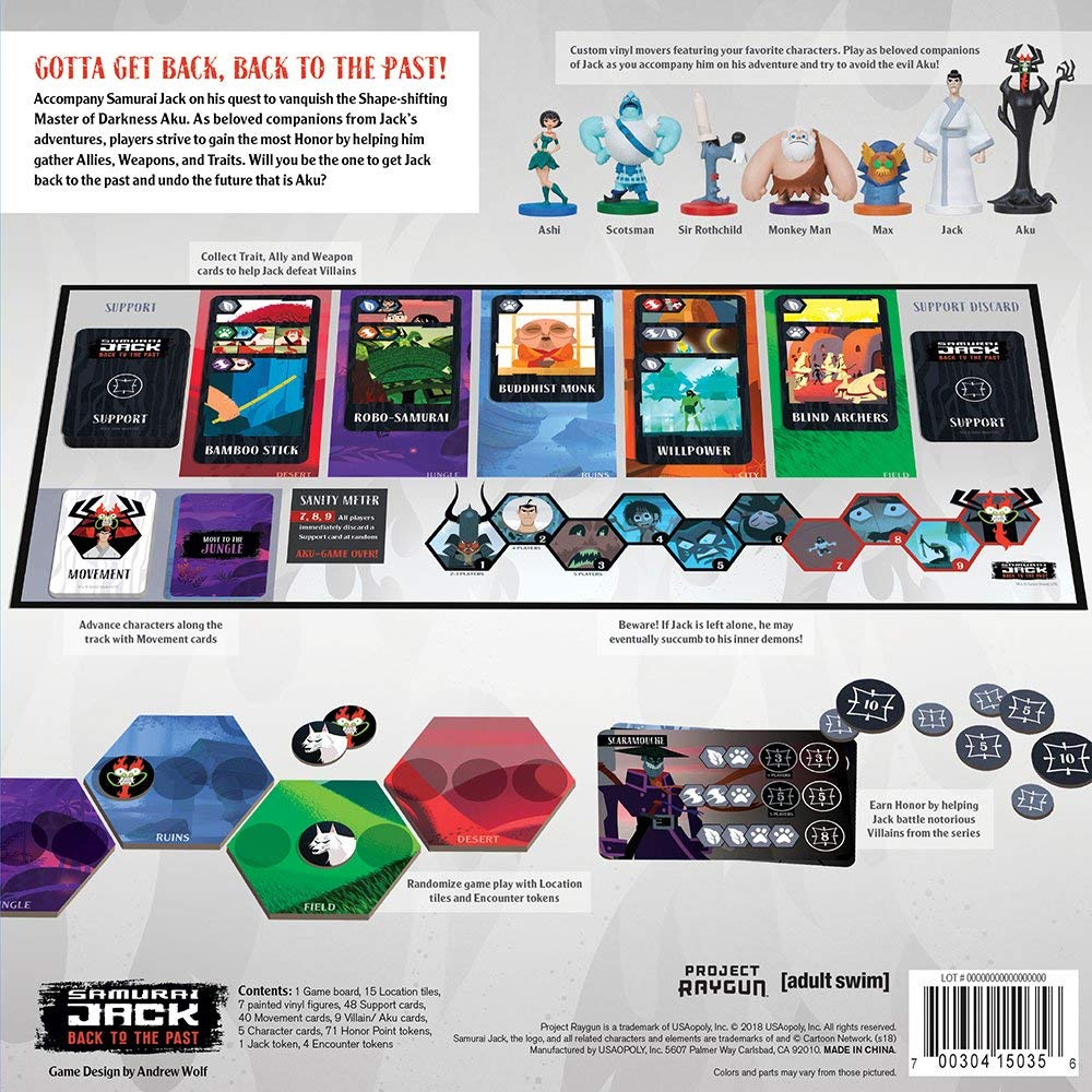 Samurai Jack Back to the Past Board Game