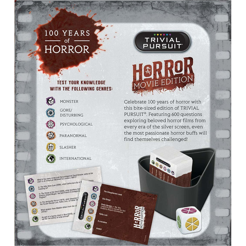 USAopoly Horror Movie Edition Trivial Pursuit Board Game