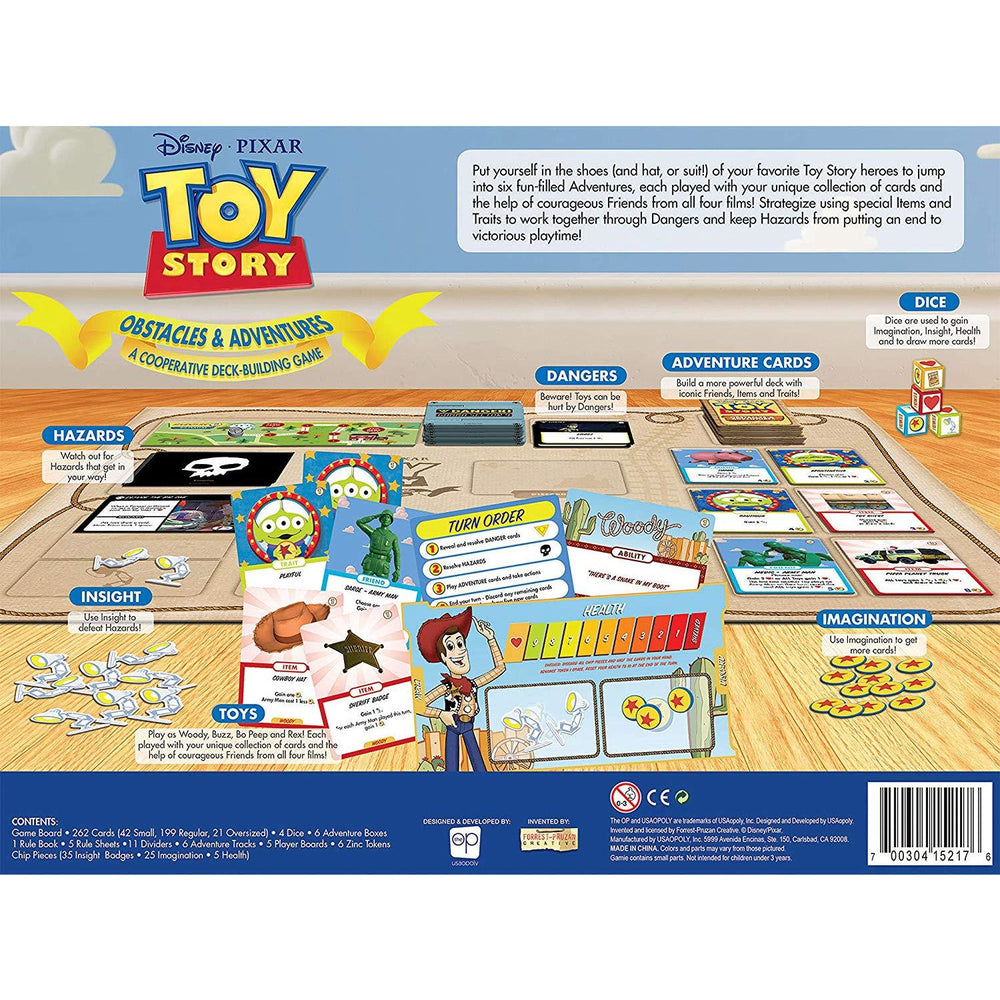 Disney Pixar Toy Story Obstacles & Adventures A Cooperative Deck Building Game