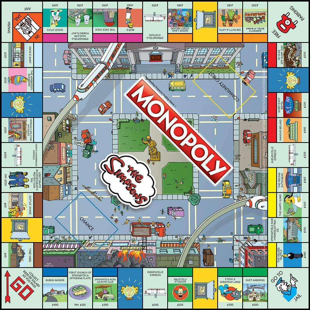 The Simpsons Monopoly Collector's Edition Board Game