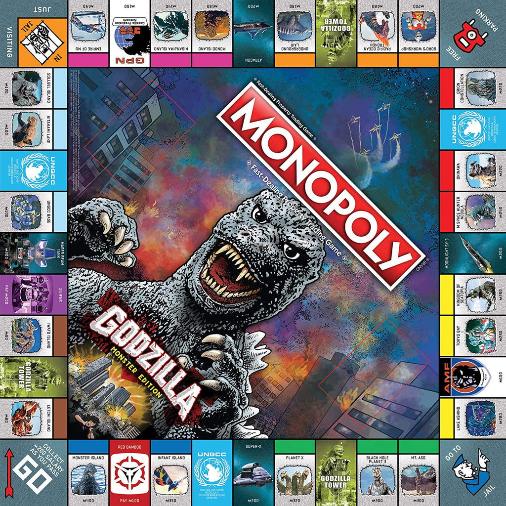 Monopoly Godzilla Monster Edition Board Game