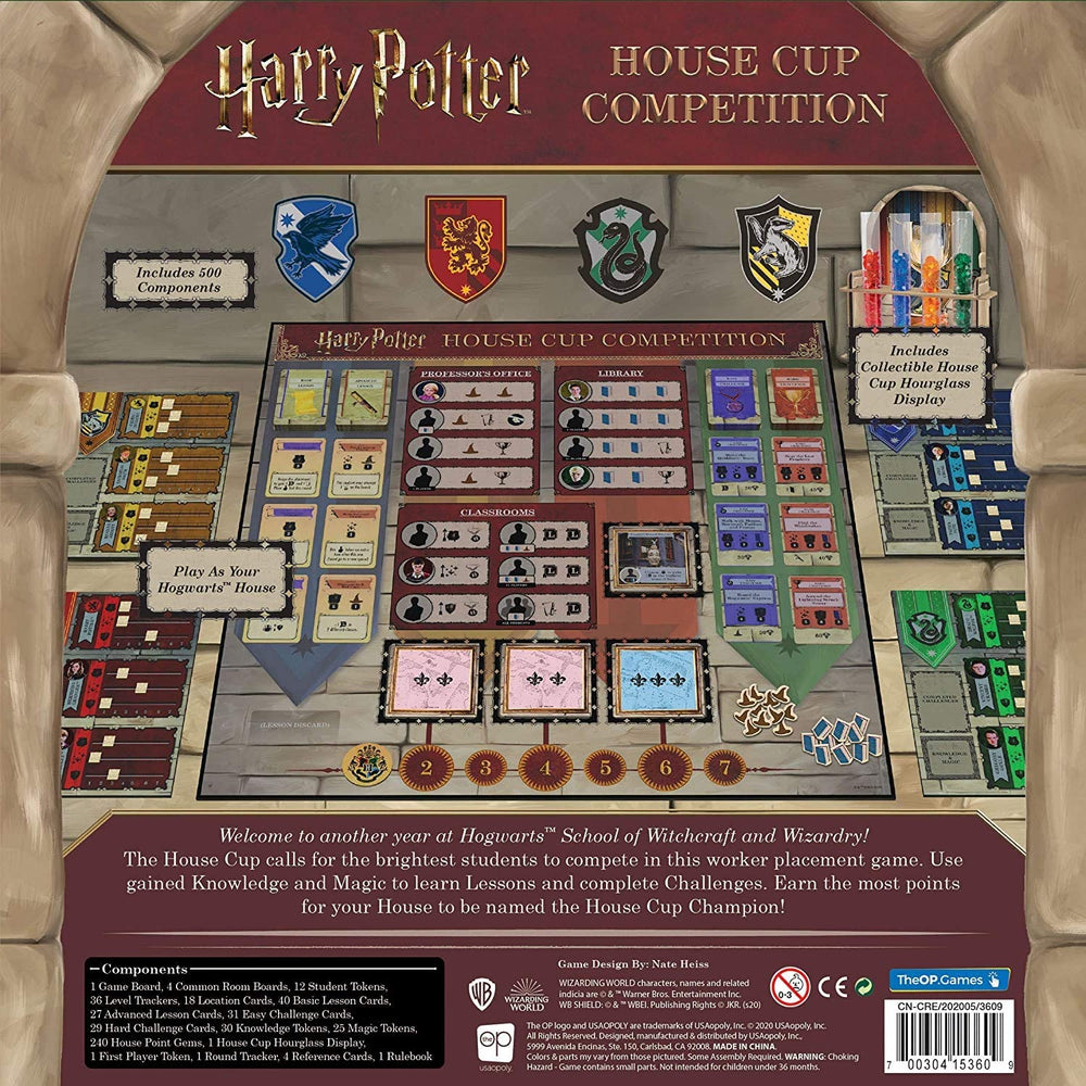 Harry Potter House Cup Competition Worker Placement Board Game