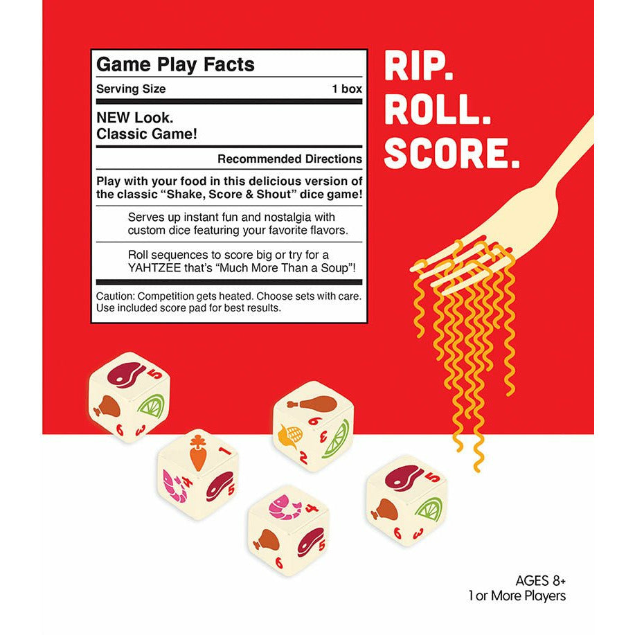Yahtzee Cup Noodles Dice Game