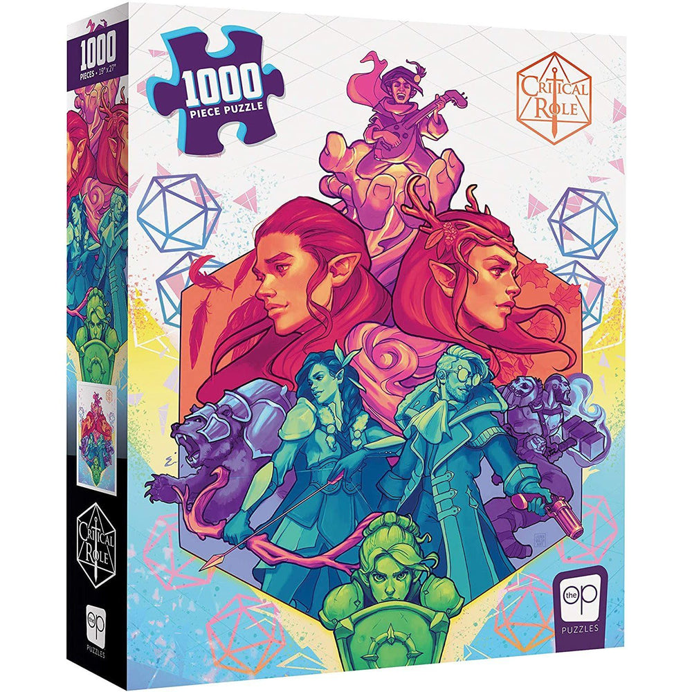 USAOPOLY Critical Role Vox Machina 1000 Piece Jigsaw Puzzle | Officially Licensed Critical Role Merchandise