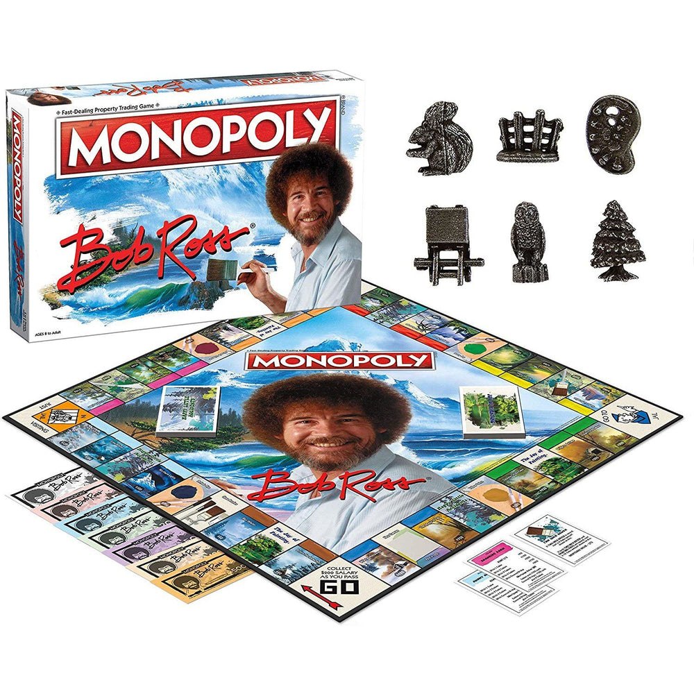 Monopoly Bob Ross Edition Board Game