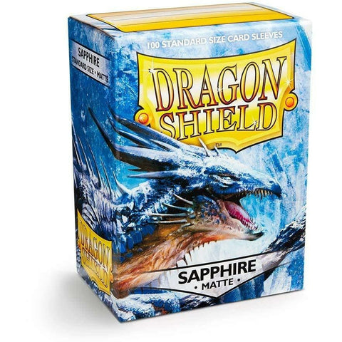 Dragon Shield Matte Sapphire 100 Protective Sleeves