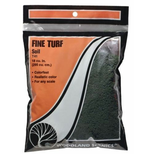 Woodland Scenics T41 Soil Fine Turf Bag 21.6 Cu. Inches for Diorama