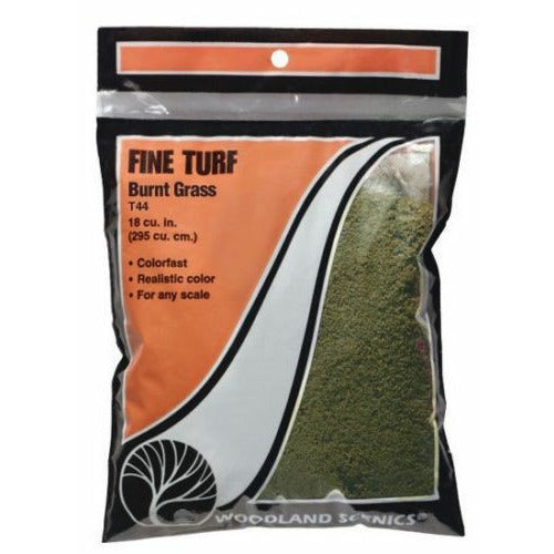 Woodland Scenics T44 Burnt Grass Fine Turf Bag 21.6 Cu. Inches for Diorama