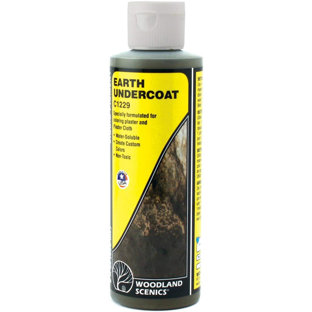 Woodland Scenics C1229 Earth Undercoat Liquid Pigment 8oz Bottle for Diorama